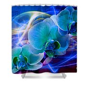 Prismatic Orchid Swirl Shower Curtain