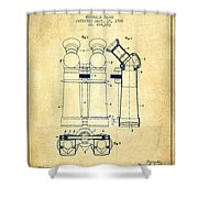 Prismatic Telescope Patent From 1908 - Vintage Shower Curtain