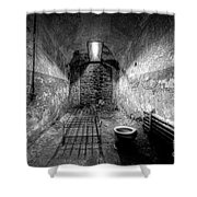 Prison Cell Black And White Shower Curtain