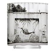 Prison Mural Shower Curtain