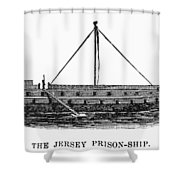Prison Ship: Jersey Shower Curtain by Granger