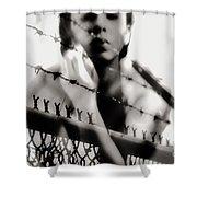 Prisoner Of My Own Shower Curtain