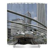 Pritzker South Facade Vertical Shower Curtain