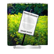 Private Driveway Shower Curtain