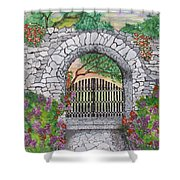 Private Garden At Sunset Shower Curtain