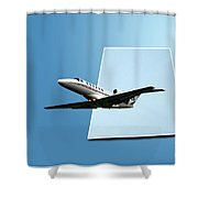 Private Jet Chicago Airplanes 14 Shower Curtain