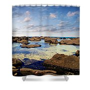 Private Pool Shower Curtain