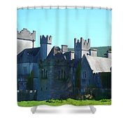 Private Property - Castle Art By Charlie Brock Shower Curtain
