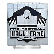 Pro Football Hall Of Fame Shower Curtain