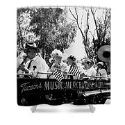Pro-viet Nam War March Beaver's Band Box Musicians Tucson Arizona 1970 Black And White Shower Curtain