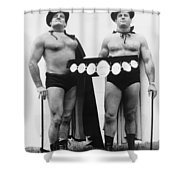 Pro Wrestlers Portrait Shower Curtain