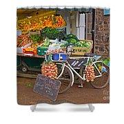 Produce Market In Corbridge Shower Curtain