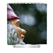 Profile Of A Garden Gnome Shower Curtain