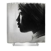 Profile Of A Young Woman In Turban Shower Curtain
