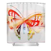 Profound Thought Butterfly Shower Curtain