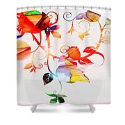 Profound Thought Rose Vine Shower Curtain