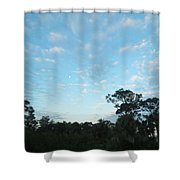 Projecting Into Heaven Shower Curtain