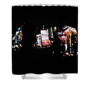 Projection - Body 1 Shower Curtain