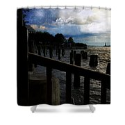 Promenade At The Hudson River New York City Shower Curtain