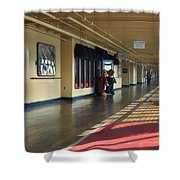 Promenade Deck Queen Mary Ocean Liner 01 Shower Curtain