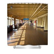 Promenade Deck Queen Mary Ocean Liner 02 Shower Curtain