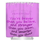 Promise Me - Winnie The Pooh - Pink Shower Curtain