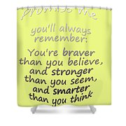 Promise Me - Winnie The Pooh - Yellow Shower Curtain