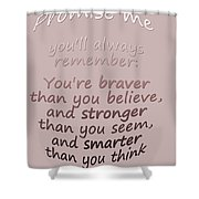 Promise Me - Winnie The Pooh  Shower Curtain