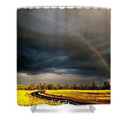Promise On The Mother Road Rt 66 Flagstaff Az Shower Curtain