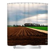 Promissing Field Shower Curtain