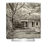 Promoting The Obvious - Paint Bw Shower Curtain