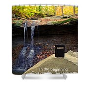 Proof Of God's Existence Shower Curtain