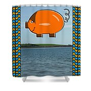 Proof That Pigs Can Fly Shower Curtain