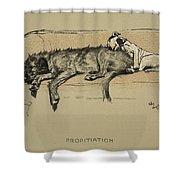 Propitation, 1930, 1st Edition Shower Curtain