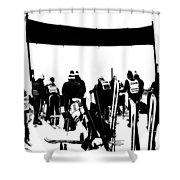 Pros Looking Over The Course Shower Curtain
