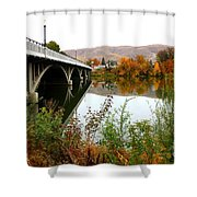 Prosser Bridge And Fall Colors On The River Shower Curtain