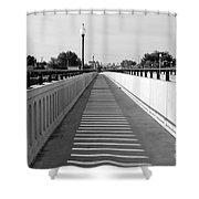 Prosser Bridge Perspective - Black And White Shower Curtain