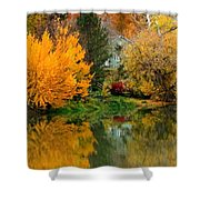 Prosser - Fall Reflection With Hills Shower Curtain