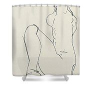 Prostrate Female Nude Shower Curtain