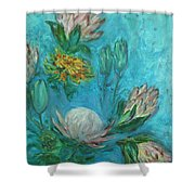 Protea Flower Study I Shower Curtain