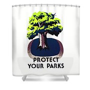 Protect Your Parks Wpa Shower Curtain