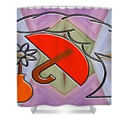 Protected By The Light Of Love Shower Curtain