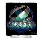 Protected Nest Amongst Waves Shower Curtain