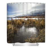 Protected Wetlands Shower Curtain