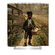 Protecting The Groceries Shower Curtain by Edward Lamson Henry