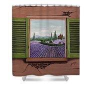 Provence Lavander Fields Original Acrylic Shower Curtain