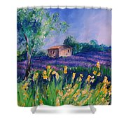 Provence Yellow Flowers Shower Curtain