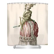 Provencial Style Ladys Walking Gown Shower Curtain
