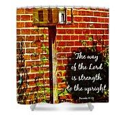 Proverbs 10 29 Shower Curtain