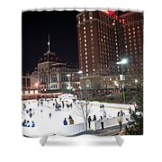 Providence On A Cold December Evening Shower Curtain